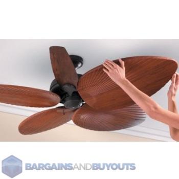 five decorative palm leaf ceiling fan blade covers natural 248026 ebay. Black Bedroom Furniture Sets. Home Design Ideas