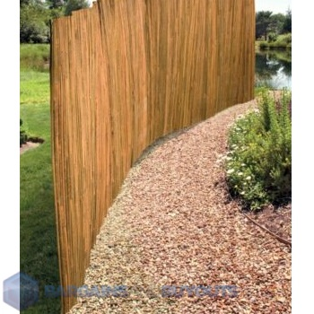 Slatted bamboo outdoor privacy screen natural 342886 ebay for Natural outdoor privacy screens