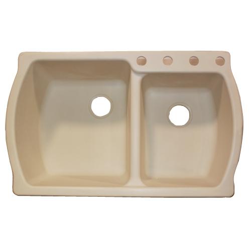 americast kitchen sinks american standard chandler americast bowl kitchen sink in bone ebay
