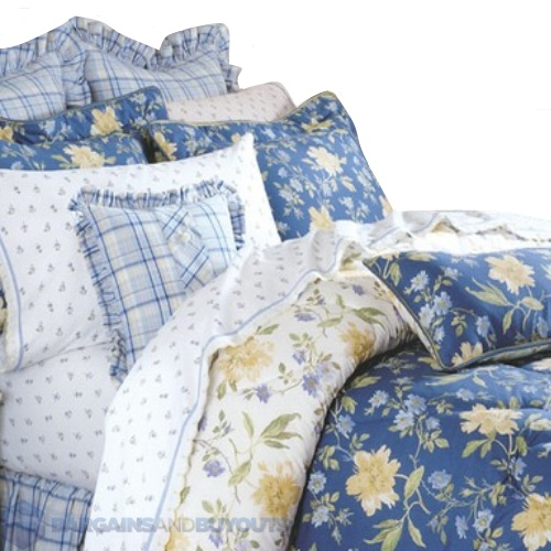 Laura Ashley Emilie Bedding Collection In Blue Queen Ebay