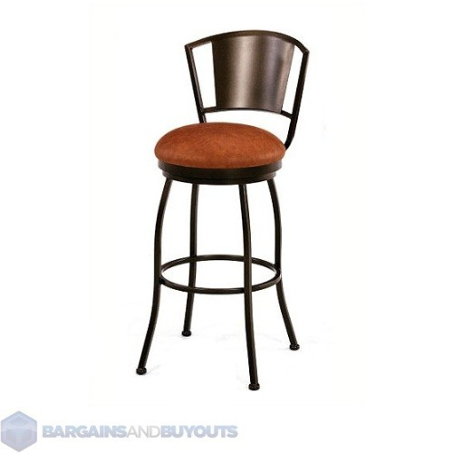 tempo brazilia 34 extra tall metal swivel custom bar stool sun bronze ebay. Black Bedroom Furniture Sets. Home Design Ideas