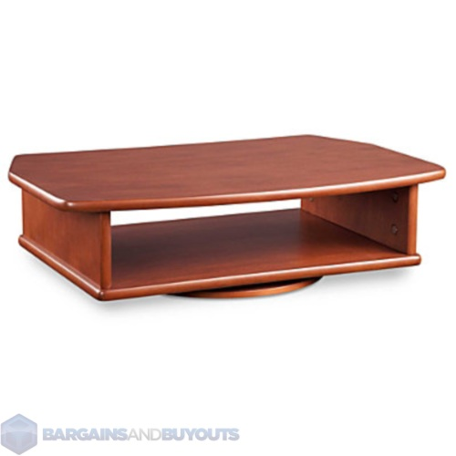 Tabletop Turntable Tv Stand With Dvd Player Lower Shelf Dark Cherry