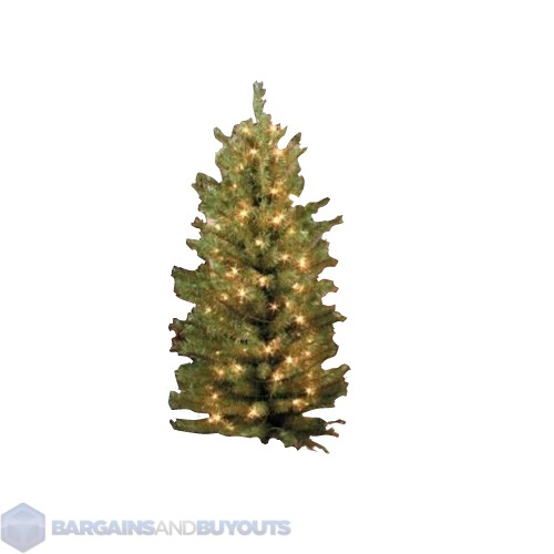 4 39 Pre Lit Instant Shape Outdoor Entryway Christmas Tree