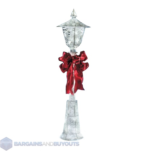 Outdoor holiday 48 lighted snow lamp post 388975 ebay for Christmas decorations for outside lamp post