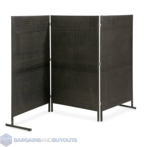 freestanding outdoor resin wicker privacy screen