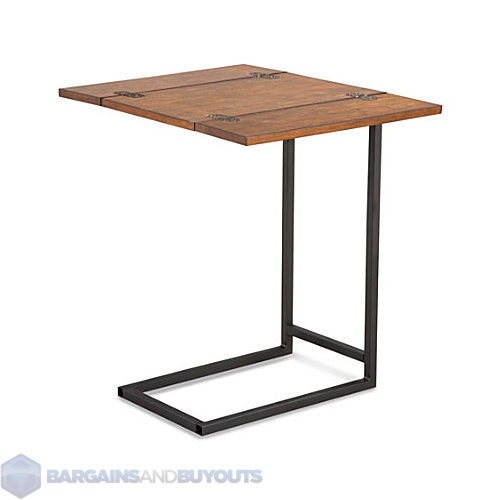 indoor expanding tray table with rubbed walnut finish 399096 ebay. Black Bedroom Furniture Sets. Home Design Ideas