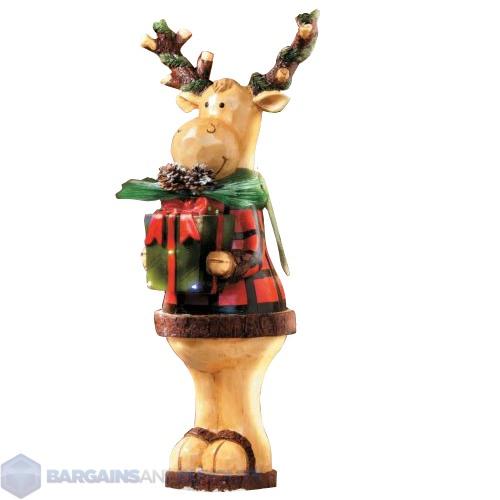 """Indoor/Outdoor 24"""" Lighted Standing Moose Christmas ..."""