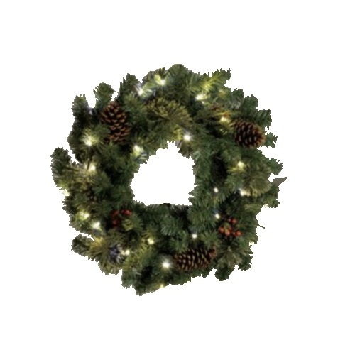outdoor lighted 24 39 battery powered christmas wreath. Black Bedroom Furniture Sets. Home Design Ideas