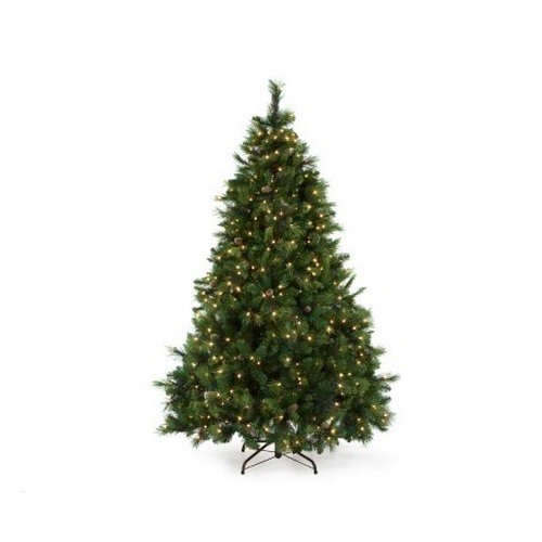 Battery operated 6 5 lighted christmas tree 418134 white lights