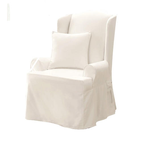 Wing Chair Slipcover White