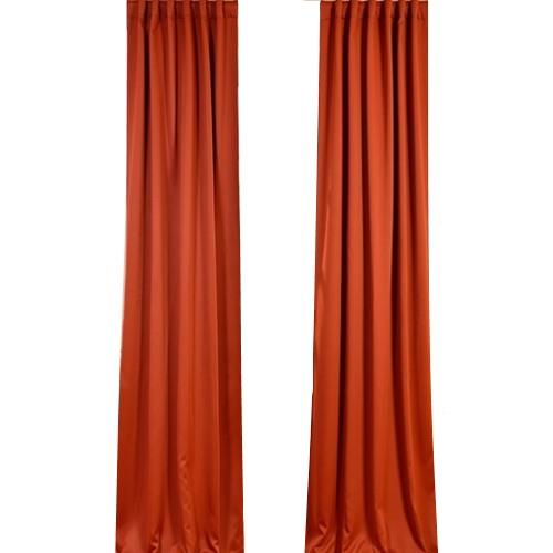Blaze orange curtains