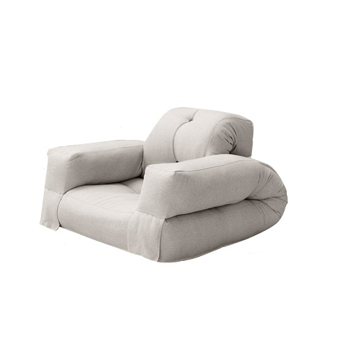 fresh futon hippo kids sized convertible futon chair bed in natural