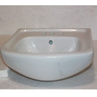 "18"" White Ceramic Small Vitreous China Bathroom Sink - CT1815W"