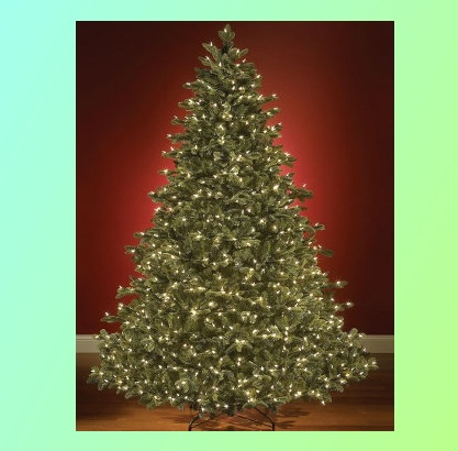 Indoor 7 5 ft Prelit Noble Fir Christmas Tree Medium Clear LED Lights